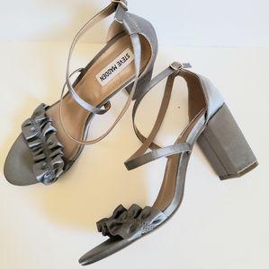 Steve Madden Satin Sundaze Ruffle Sandal Heels